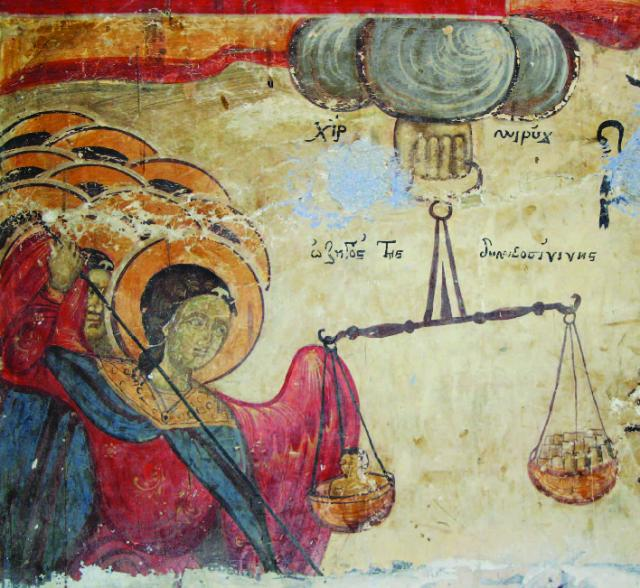 Vlasti,  Catholic Monastery of Saint Dimitris,  St Dimitris dispenses Justice